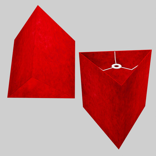 Triangle Lamp Shade - P60 - Red Lokta, 40cm(w) x 40cm(h)