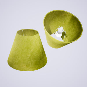 Conical Lamp Shade P61 - Lime Lokta, 15cm(top) x 30cm(bottom) x 22cm(height)