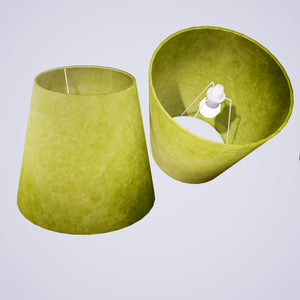 Conical Lamp Shade P61 - Lime Lokta, 23cm(top) x 35cm(bottom) x 31cm(height)