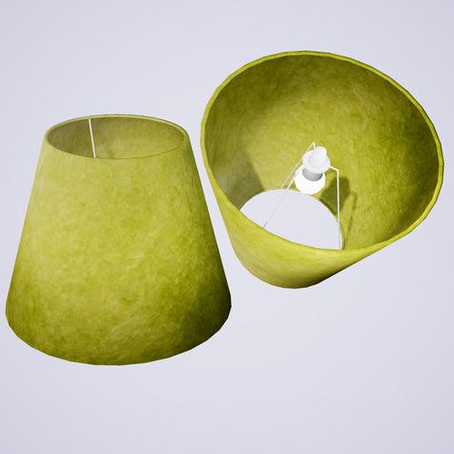 Conical Lamp Shade P61 - Lime Lokta, 23cm(top) x 40cm(bottom) x 31cm(height)