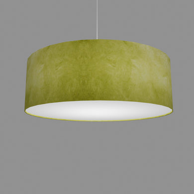 Drum Lamp Shade - P61 - Lime Lokta, 60cm(d) x 20cm(h)