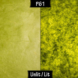 Rectangle Lamp Shade - P61 - Lime Lokta, 30cm(w) x 30cm(h) x 15cm(d) - Imbue Lighting