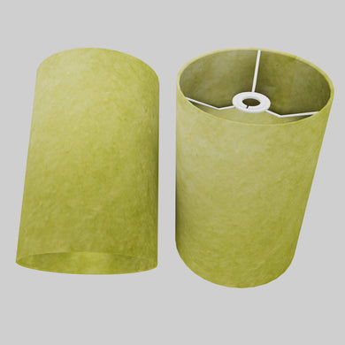 Drum Lamp Shade - P61 - Lime Lokta, 20cm(d) x 30cm(h)