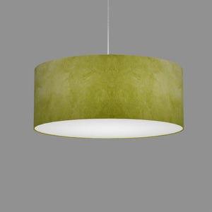 Drum Lamp Shade - P61 - Lime Lokta, 50cm(d) x 20cm(h)