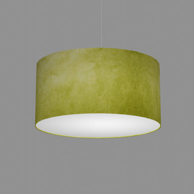 Drum Lamp Shade - P61 - Lime Lokta, 50cm(d) x 25cm(h)