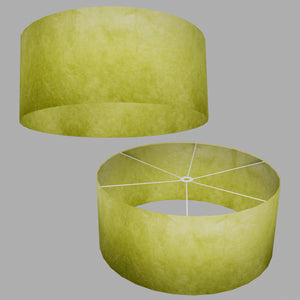 Drum Lamp Shade - P61 - Lime Lokta, 70cm(d) x 30cm(h)