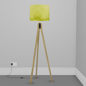 Oak Tripod Floor Lamp - P61 - Lime Lokta