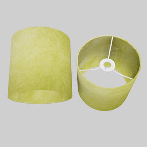 Drum Lamp Shade - P61 - Lime Lokta, 20cm(d) x 20cm(h)