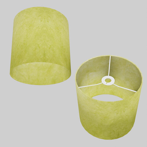 Drum Lamp Shade - P61 - Lime Lokta, 25cm x 25cm