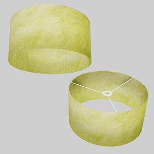Drum Lamp Shade - P61 - Lime Lokta, 40cm(d) x 20cm(h)