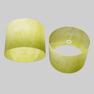 Drum Lamp Shade - P61 - Lime Lokta, 40cm(d) x 30cm(h)