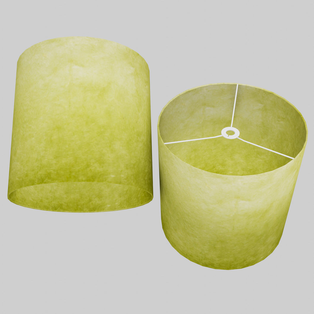 Drum Lamp Shade - P61 - Lime Lokta, 40cm(d) x 40cm(h)