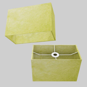 Rectangle Lamp Shade - P61 - Lime Lokta, 30cm(w) x 20cm(h) x 15cm(d)