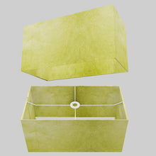 Rectangle Lamp Shade - P61 - Lime Lokta, 50cm(w) x 25cm(h) x 25cm(d)