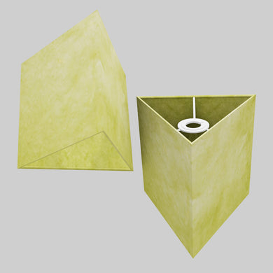Triangle Lamp Shade - P61 - Lime Lokta, 20cm(w) x 20cm(h)