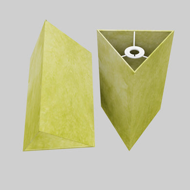 Triangle Lamp Shade - P61 - Lime Lokta, 20cm(w) x 30cm(h)