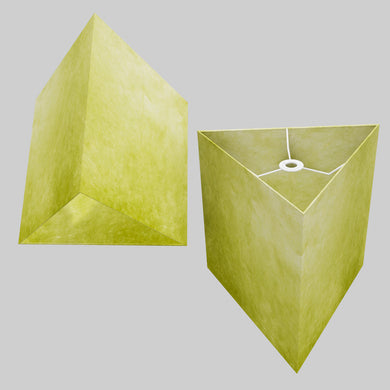Triangle Lamp Shade - P61 - Lime Lokta, 40cm(w) x 40cm(h)