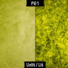 Rectangle Lamp Shade - P61 - Lime Lokta, 30cm(w) x 20cm(h) x 15cm(d) - Imbue Lighting