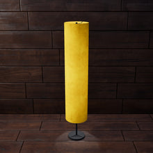 Drum Floor Lamp - P62 - Yellow Lokta, 22cm(d) x 114cm(h)