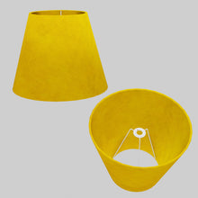 Conical Lamp Shade P62 - Yellow Lokta, 23cm(top) x 40cm(bottom) x 31cm(height)
