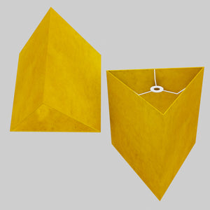 Triangle Lamp Shade - P62 - Yellow Lokta, 40cm(w) x 40cm(h)