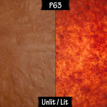 Square Lamp Shade - P63 - Terracotta Lokta, 20cm(w) x 20cm(h) x 20cm(d) - Imbue Lighting