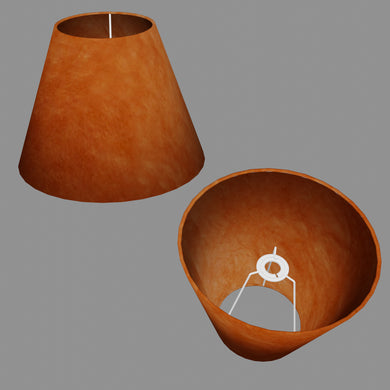 Conical Lamp Shade P63 - Terracota Lokta, 15cm(top) x 30cm(bottom) x 22cm(height)