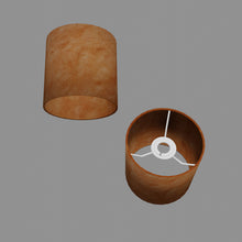 Drum Lamp Shade - P63 - Terracotta Lokta, 15cm(d) x 15cm(h)