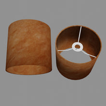 Drum Lamp Shade - P63 - Terracotta Lokta, 20cm(d) x 20cm(h)