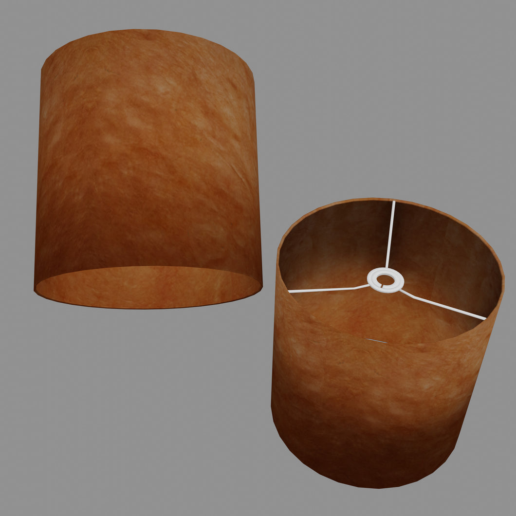 Drum Lamp Shade - P63 - Terracotta Lokta, 30cm(d) x 30cm(h)