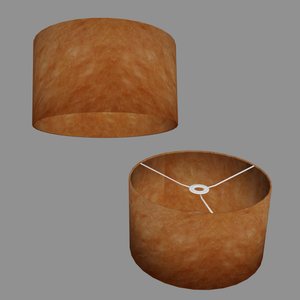 Drum Lamp Shade - P63 - Terracotta Lokta, 35cm(d) x 20cm(h)
