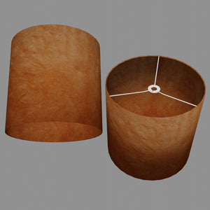 Drum Lamp Shade - P63 - Terracotta Lokta, 40cm(d) x 40cm(h)