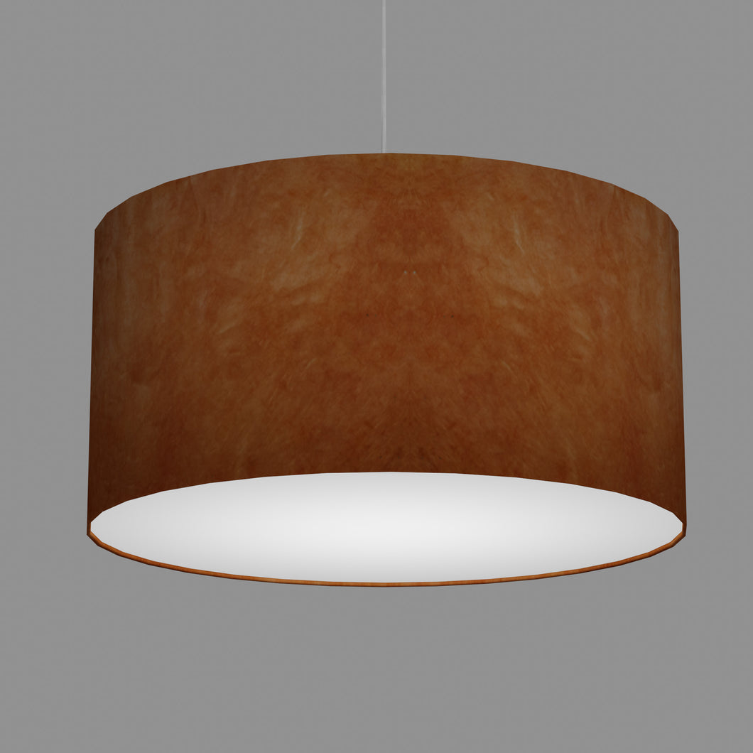 Drum Lamp Shade - P63 - Terracotta Lokta, 60cm(d) x 30cm(h)