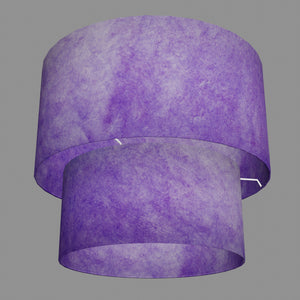 2 Tier Lamp Shade - P64 - Purple Lokta, 40cm x 20cm & 30cm x 15cm
