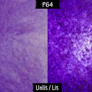 Drum Lamp Shade - P64 - Purple Lokta, 15cm(d) x 20cm(h) - Imbue Lighting