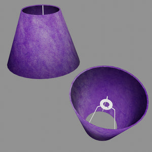 Conical Lamp Shade P64 - Purple Lokta, 15cm(top) x 30cm(bottom) x 22cm(height)