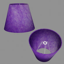 Conical Lamp Shade P64 - Purple Lokta, 23cm(top) x 40cm(bottom) x 31cm(height)