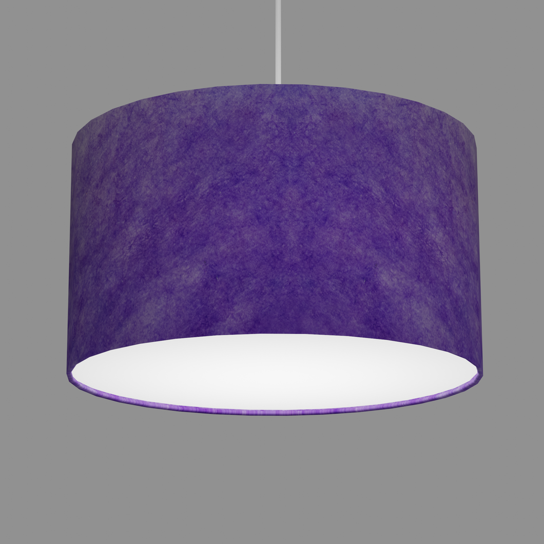 Drum Lamp Shade - P64 - Purple Lokta, 35cm(d) x 20cm(h)