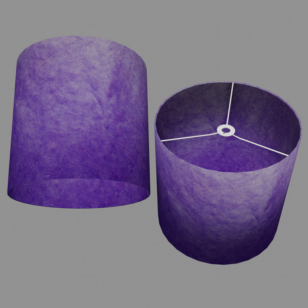 Drum Lamp Shade - P64 - Purple Lokta, 40cm(d) x 40cm(h)