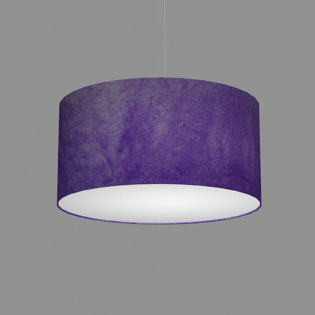 Drum Lamp Shade - P64 - Purple Lokta, 50cm(d) x 25cm(h)
