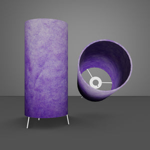 Free Standing Table Lamp Small - P64 ~ Purple Lokta