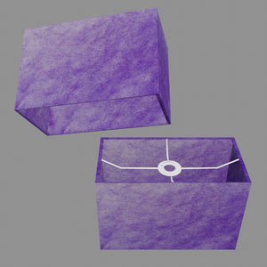 Rectangle Lamp Shade - P64 - Purple Lokta, 30cm(w) x 20cm(h) x 15cm(d)