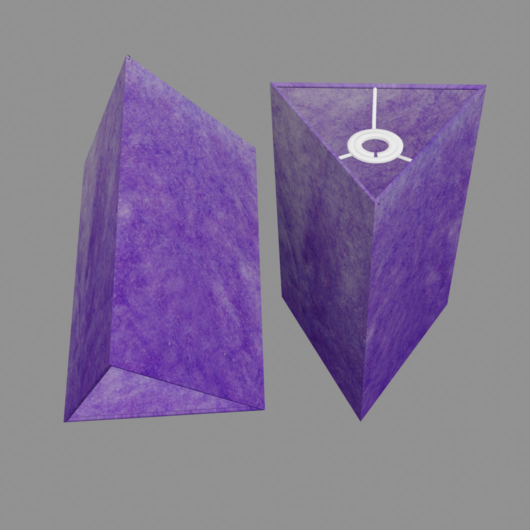 Triangle Lamp Shade - P64 - Purple Lokta, 20cm(w) x 30cm(h)