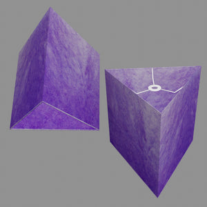 Triangle Lamp Shade - P64 - Purple Lokta, 40cm(w) x 40cm(h)