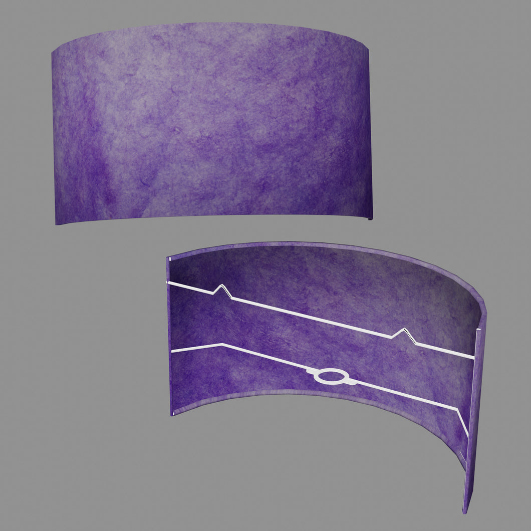 Wall Light - P64 - Purple Lokta, 36cm(wide) x 20cm(h)