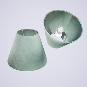 Conical Lamp Shade P65 - Turquoise Lokta, 15cm(top) x 30cm(bottom) x 22cm(height)