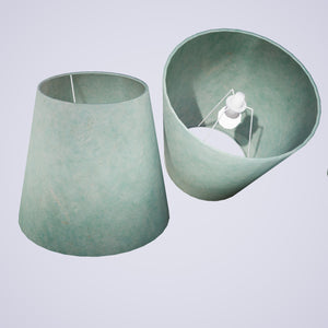 Conical Lamp Shade P65 - Turquoise Lokta, 23cm(top) x 35cm(bottom) x 31cm(height)