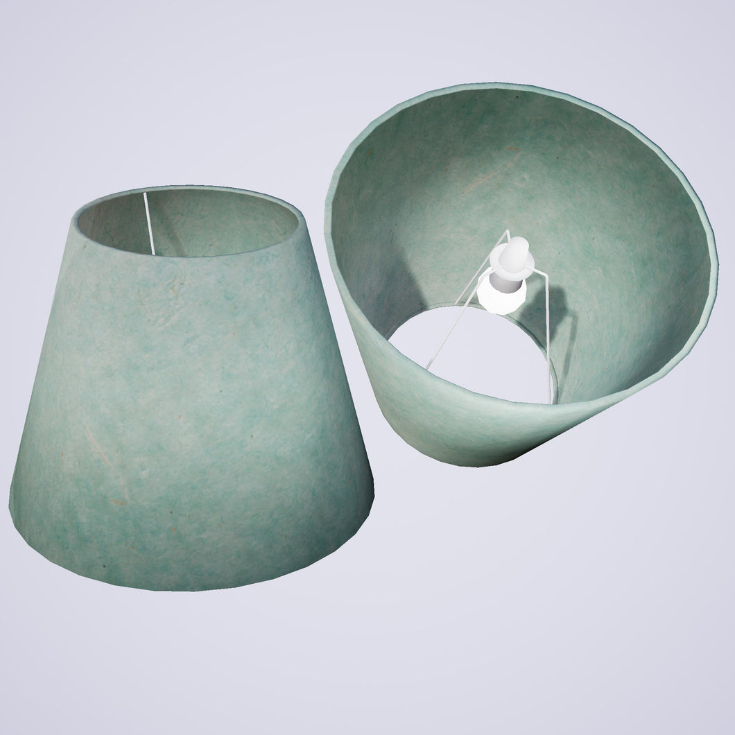 Conical Lamp Shade P65 - Turquoise Lokta, 23cm(top) x 40cm(bottom) x 31cm(height)