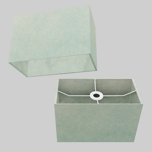 Rectangle Lamp Shade - P65 - Turquoise Lokta, 30cm(w) x 20cm(h) x 15cm(d)