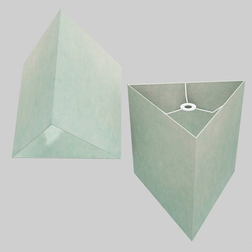 Triangle Lamp Shade - P65 - Turquoise Lokta, 40cm(w) x 40cm(h)